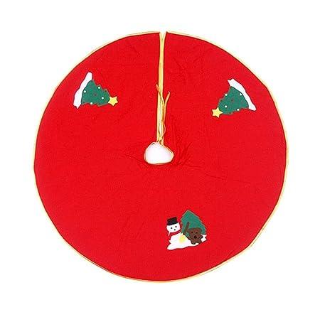 Vi.yo Adornos del Árbol De Navidad Falda árbol Aplique Rojo 90cm ...