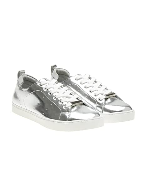 Buy Aldo Women's Silver Sneakers-2 UK
