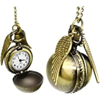 Everything-cheap Collana - boccino - Collana vintage in ottone, orologio da tasca