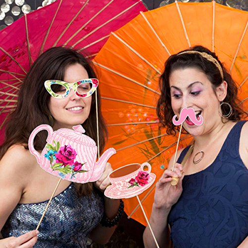 Tea-Party-Photo-Booth-Props-Stick-Funny-Supplies-Wedding-Bachelorette-Engagement thumbnail 7