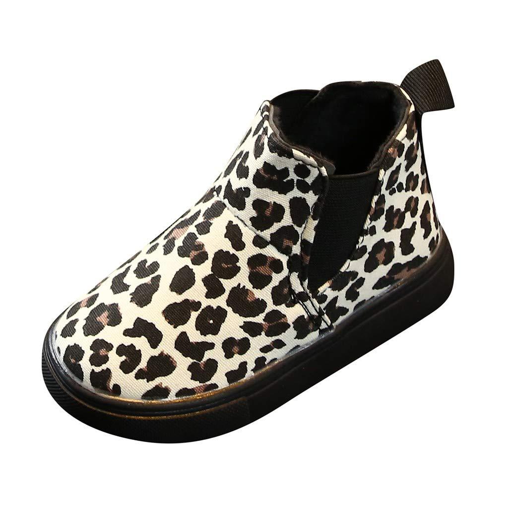 ni/ña Botas de Nieve Unisex para ni/ños calentitas Gruesas para Invierno para beb/é reci/én Nacidos Princesa Zapatos para Gatear Leopardo