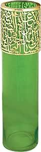 Noon Art Handmade Vase - Green Gold , 2725608689119