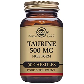 Amazon.com: Solgar Taurine Vegetable Capsules, 500 mg, 50 ...