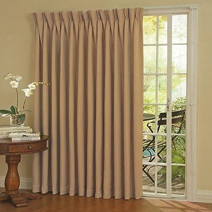 Amazoncom Un 1pc 84 Wheat Solid Color Sliding Door Curtain