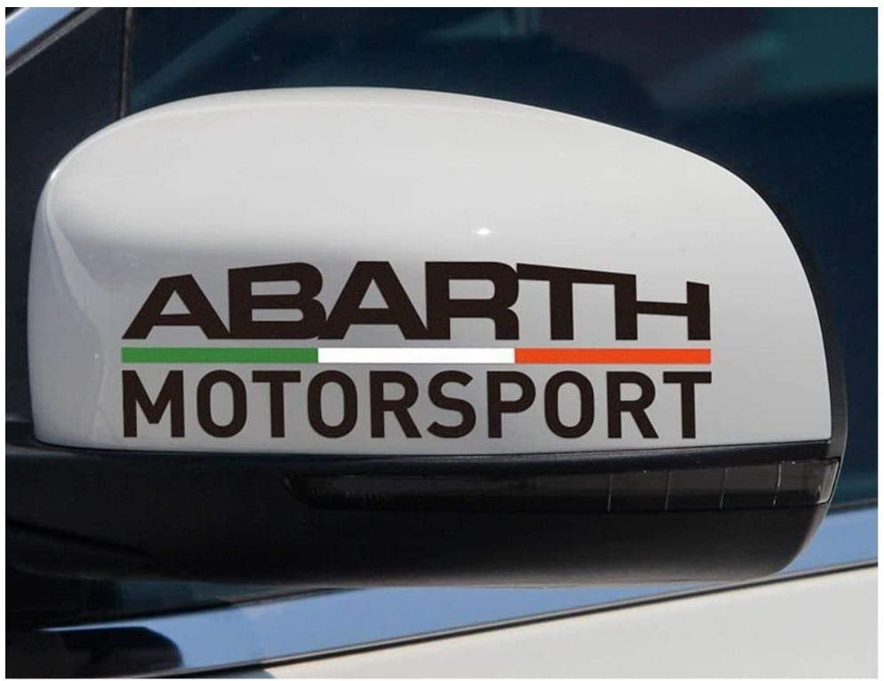 Abarth 2 Spiegelaufkleber Fiat Typ 2 Aufkleber Autoaufkleber Auto Tuning Sticker Aufkleber Mit Montage Set Inkl Estrellina Montage Rakel Estrellina Glücksaufkleber Auto