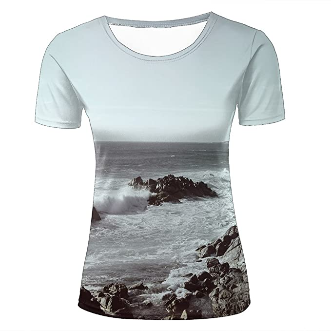 13e7045d7 xijia custom 3D Creative Printed Mens Womens Spray and Rock Graphic Summer  Casual Short Sleeve Couple