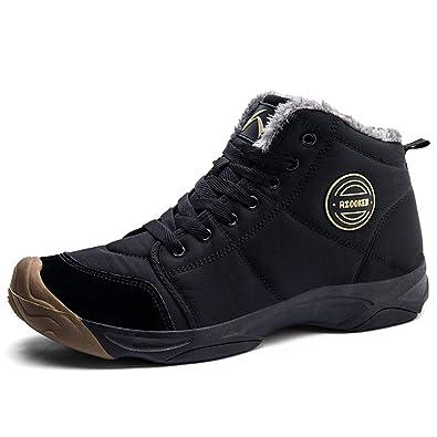 f73b5a81b59 Axcone Chaussures Homme Femme Bottes Hiver imperméable Neige Randonnee  Chaudement Chaudes Fourrure Baskets Bottines - 6118