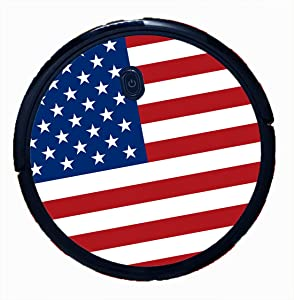 Bling Decal Stickers for Eufy Boost IQ RoboVac 11S (Slim) Vacuum - Easy to Apply (American Flag)