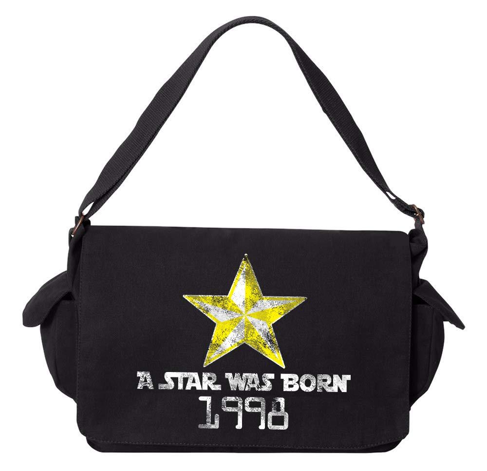Tenacitee A Star Was Born 1998 Grey Brushed Canvas Messenger Bag