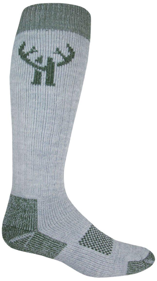 2 Pack Huntworth Men's Heavyweight Wool Blend Boot Sock, Green, Large