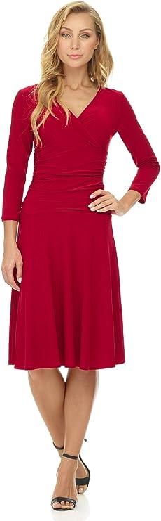 Pretty Valentine dresses for Women, Mid Length Dresses,A- Line Cap Sleeve V Neck, Perfect Women Date Night Dresses
