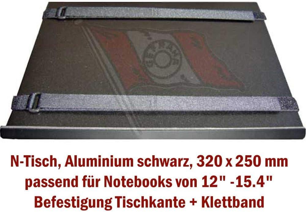 Onyx A-070N Support pour Ordinateur Portable en Aluminium pour Voiture Camping-Car 5 kg 2 Bras t/élescopique 59-79 cm de Hauteur Camion