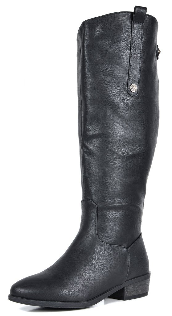 DREAM PAIRS Women's New Luccia Black Knee High Boots Wide Calf Size 11 B(M) US