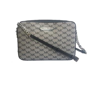 0e215e7cbbc5ea Michael Kors Jet Set Large EW Cross body Bag, Black: Handbags: Amazon.com