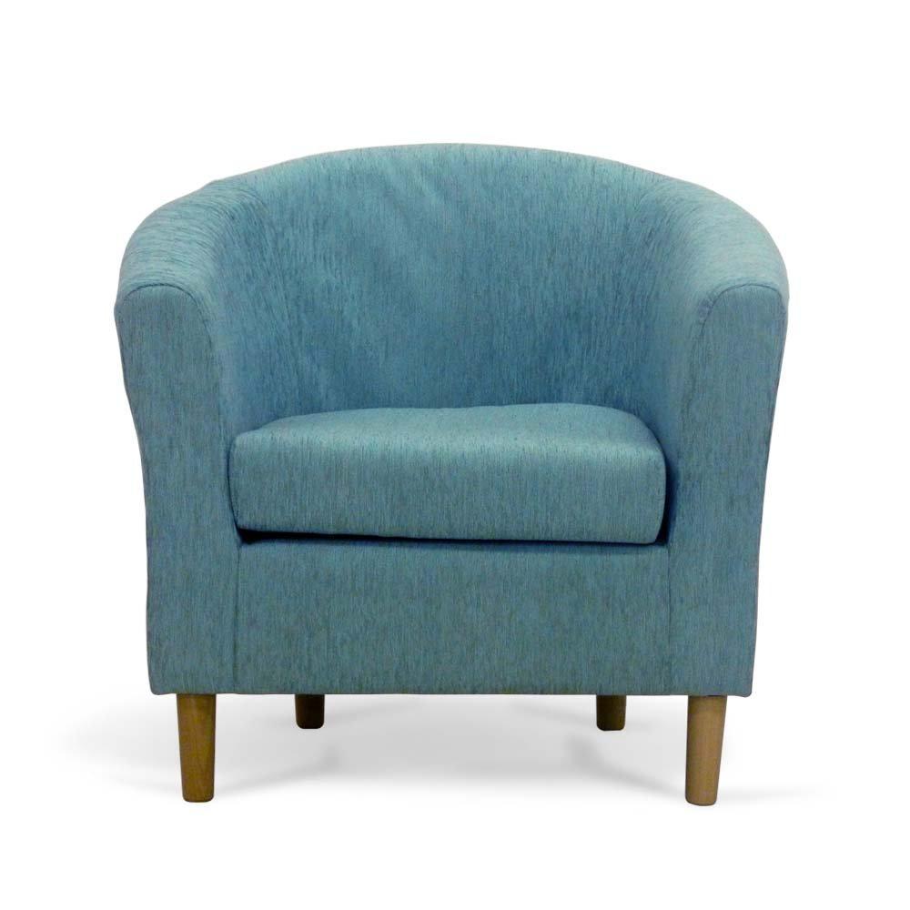 Fabric Tub Chair - Bucket Seat - Classic Tub Chairs Design - Teal ...