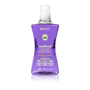 Method Laundry Detergent, Lavender + Cypress, 53.5 ounces, 66 loads