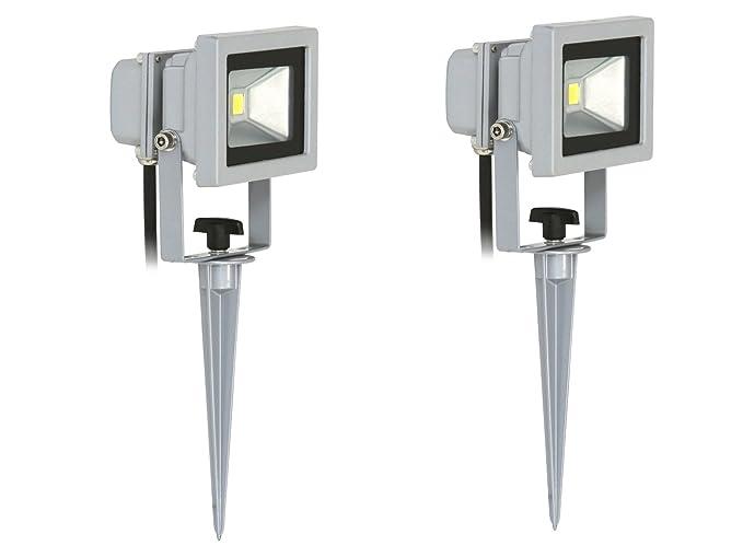 Flexo de foco LED de 10 W en para clavar en el suelo/luz de