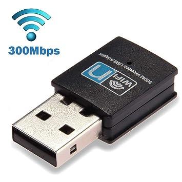 ZUZU Tarjeta de Red inalámbrica Dongle tamaño Mini 300Mbps ...