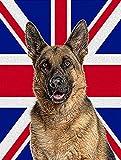 Caroline's Treasures KJ1166GF German Shepherd with English Union Jack British Flag, Small, Multicolor Review