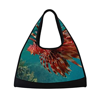4d4d317973 Amazon.com  Yoga Bag Lionfish Mens Camp Duffel Bags Crossbody ...