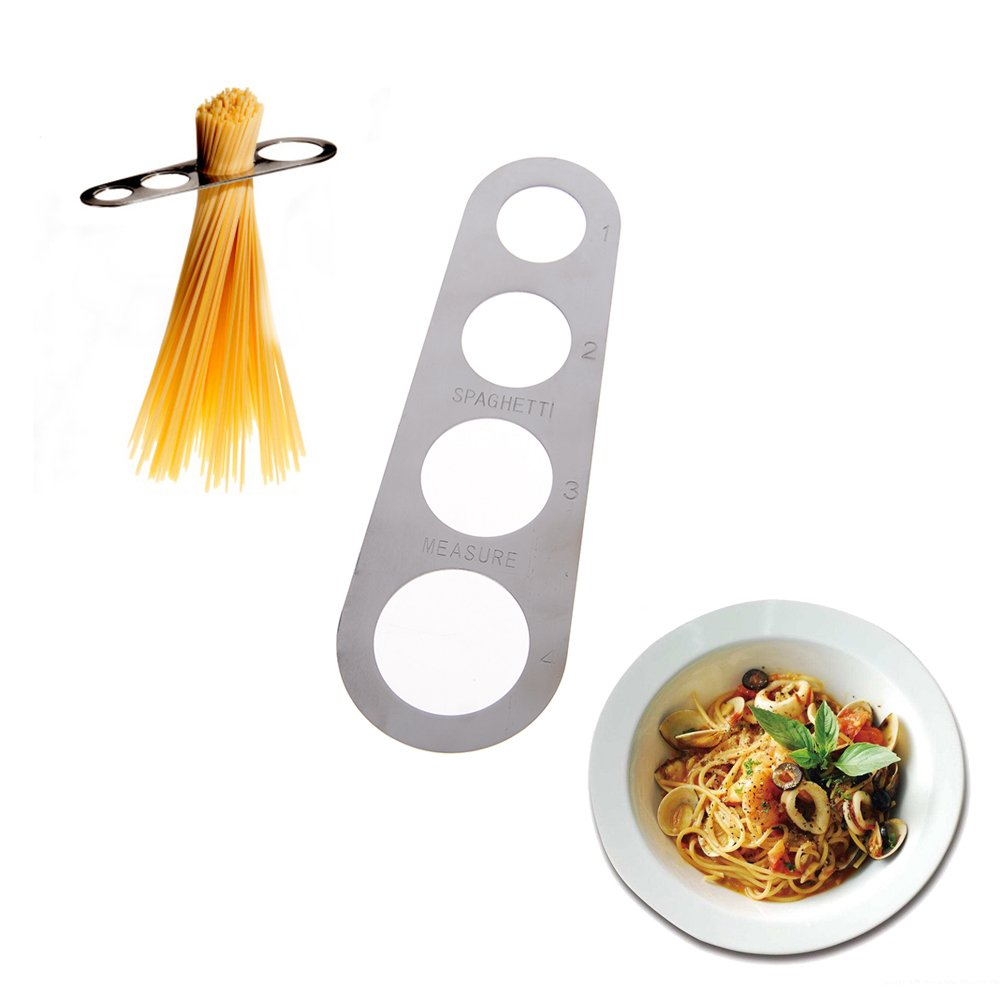 ADFEN 1x Stainless Steel Spaghetti Measure Tool with 4 Serving Portion Aduo Fenty