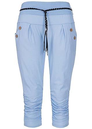 Styleboom Fashion® - Pantalón Capri para Mujer, con 2 Bolsillos ...