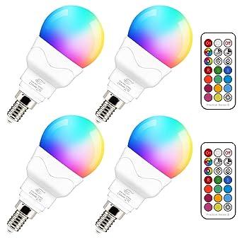 Variation Ampoule Chaud Dimmable 5wéquivalent 2700k De 40wCouleur Coloré 4 Rgbw Télécommandelot Blanc Changement Rgb E14 Led Globe Par wP0n8Ok