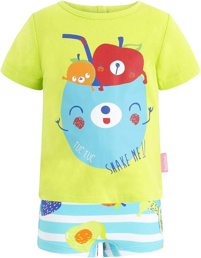 Tuc Tuc Bóxer Licra+Camiseta Punto Niño Smoothies Conjunto de Ropa para Bebés: Amazon.es: Ropa y accesorios