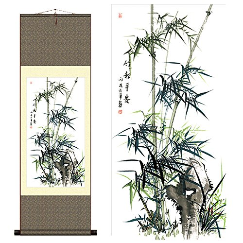 Sunmir (TM Silk Scroll Painting Chinese Painting Bamboo A Family Letter Reports ()