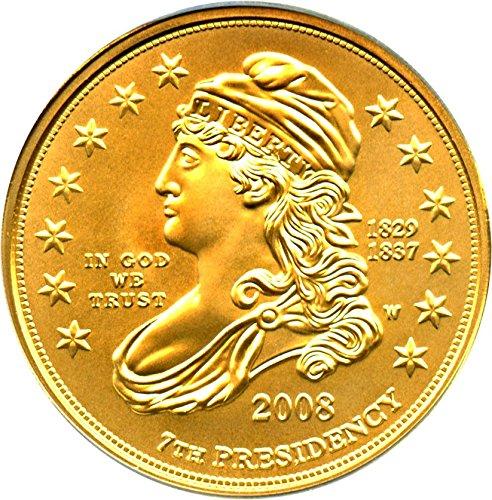 2008 W $10 First Spouse Jacksons Liberty Ten Dollar MS69 PCGS