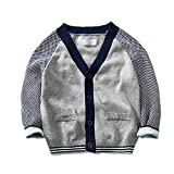Product review for Evelin LEE Baby Boys Girls Cardigans V-neck Color Block Sweaters Cable Knitted Button Coats Outwear