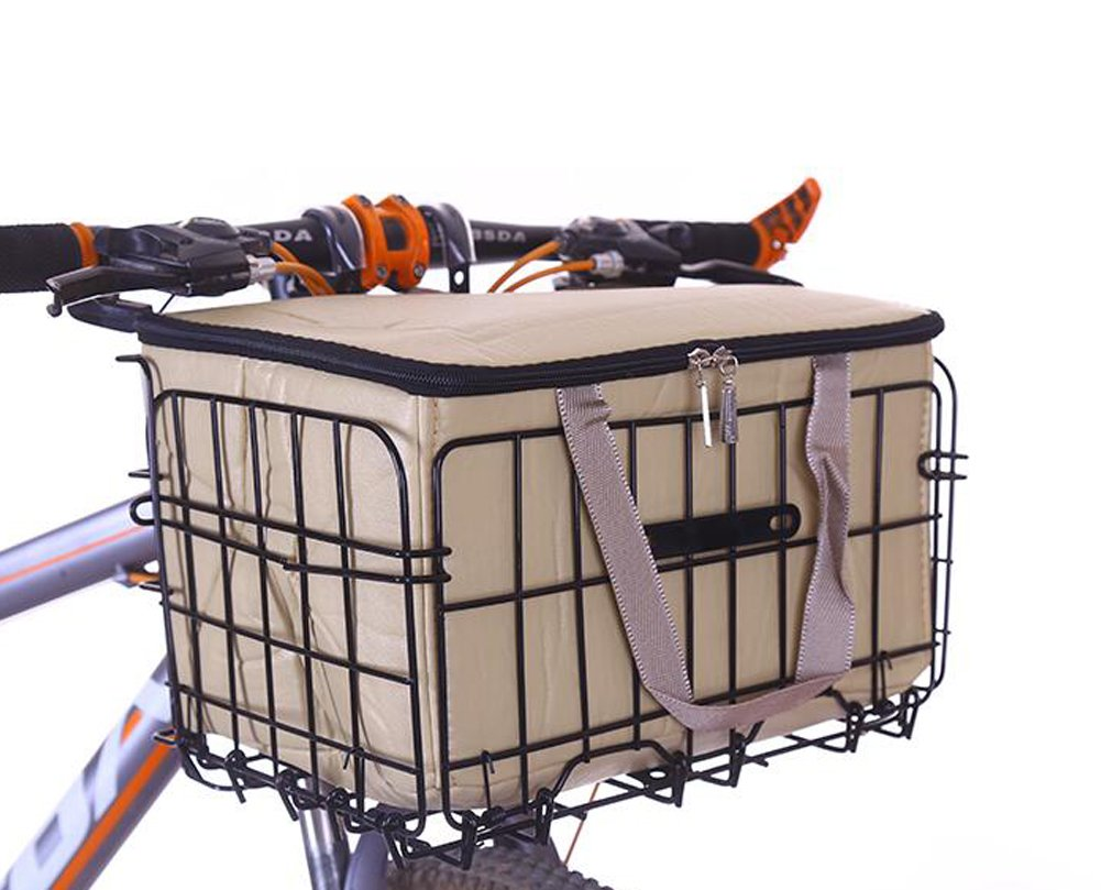 Portable Foldable Front and Rear Bike Basket East Majik
