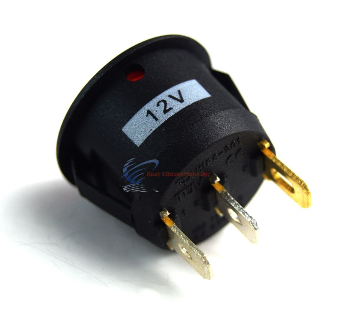 12 Volt Round 3 Prong Red Led Rocker Switch Car Spst Toggle Wiring To On Off 12v 5 Pack