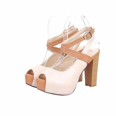 YUCH Schuhe Meine Damen Sandalen Sommer Schuhe YUCH Wasserdicht Tabelle ... 8cfa84