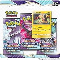 Triple Pack Pokémon Morpeko Espada e Escudo 6 Reinado Arrepiante