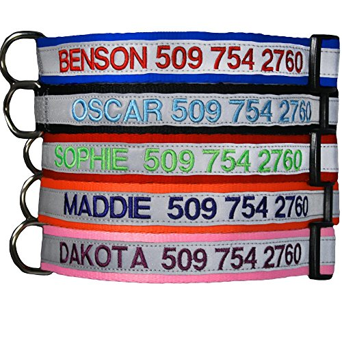 Embroidered Reflective Safety Personalized Collar product image