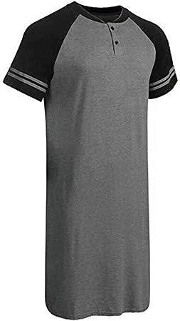 QTYJQ Camisa de Dormir de Manga Corta de camisón de Viscosa ...