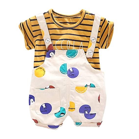 Chanjywe 2pcs Ropa Bebe Niño Conjuntos Camisas Estampada ...