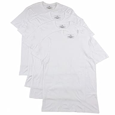 130bc33de Tommy Hilfiger Men s 100% Cotton 4-Pk White Classic Crew Neck T-Shirt