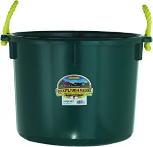 Little Giant Plastic Muck Tub (Green) Durable & Versatile Utility Bucket with Handles (40 Quart) (Item No. PSB40GREEN)