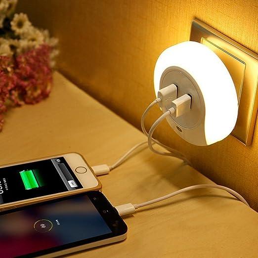 102 opinioni per LEDemain® Luce Notturna con Sensore di Crepuscolo e Caricatore USB con 2 Porte 3