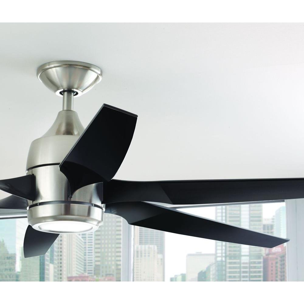 Home Decorators Collection Kelbra 60 in. LED Indoor Brushed Nickel Ceiling Fan WIth Remote by Home Decorators Collection (Image #2)