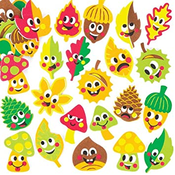 Baker Ross Autumn Friends Foam Stickers For Children To Design Make