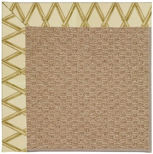 Bamboo Capel (Capel Rugs Zoe-Raffia Rectangle Machine Tufted Area Rug, 7 x 9', Bamboo)