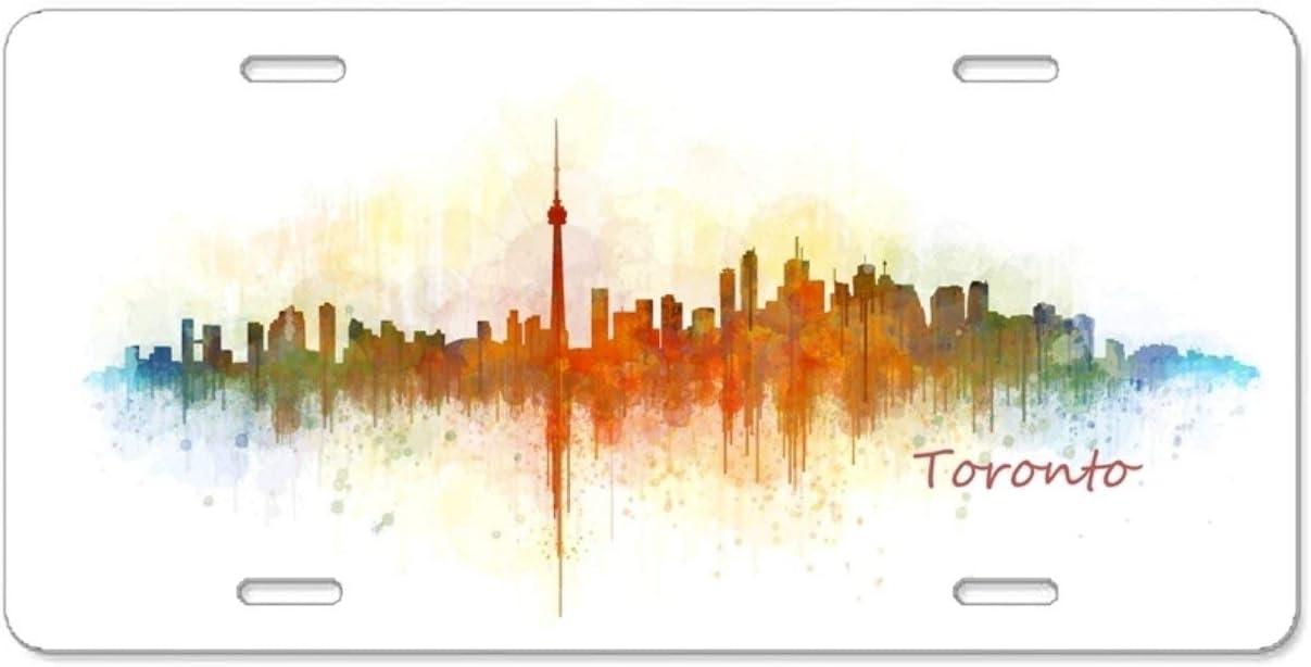 qidushop Toronto Funny Plaque dimmatriculation pour Voiture Cadres d/écoratifs