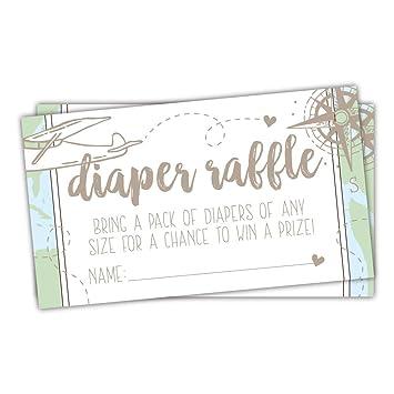 Amazon Com 50 Adventure Awaits Diaper Raffle Tickets For Baby