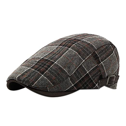 248dacb2 Wansan Men's Newsboy Gatsby Cabbie Hats Cotton Adjustable Driving Winter Hat