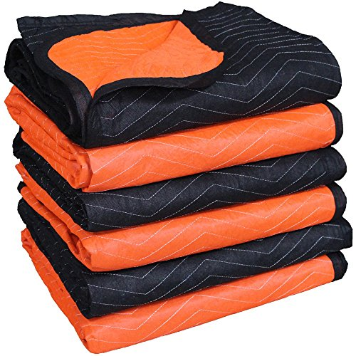 FF 72-Inch X 80-Inch Full Size-2 Color Moving Blanket, 6-Pack, Model MB6