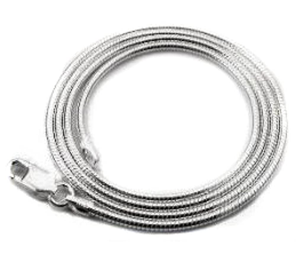 22 1.3mm Snake Chain Solid .925 Sterling Silver Made in Italy