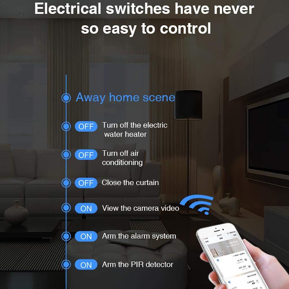 Sensor de movimiento inteligente inteligente inteligente de sonido de la puerta de enlace de la puerta de enlace WiFi con c/ámara para el hogar Sistema de alarma para el hogar